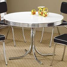 Round Retro Dining Table