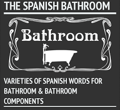 Synonyms For Bathroom Loo by Spanish Words For Bathroom And Bathroom Components Infographic