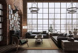 Living Room Rustic Bedroom Ideas Diy Japanese Loft Windows Stag Head Glam Gray