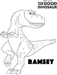 Disney The Good Dinosaur Free Printable Ramsey Coloring Page