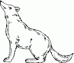 Free Coloring Pages Of A Fire Wolf