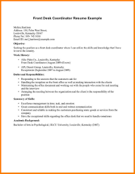 medical front desk resume resume exle