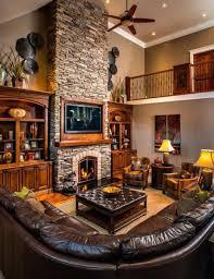 Rustic Ranch Decor House Open Interior Floor Plan