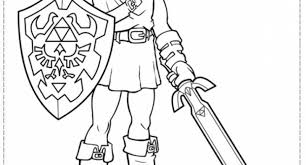 Awesome And Also Beautiful Legend Of Zelda Coloring Pages Pertaining To Comfortable