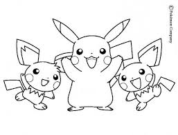 Electric Pokemon Coloring Pages Pikachu And Friends With