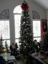 Tall Slim Christmas Tree Village Skinny Decorate