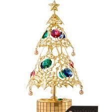 Christmas Tree Wind Up Deck The Halls Decorative Music Box