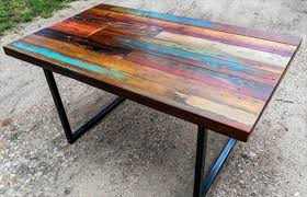 diy colorful top pallet dining table 101 pallets