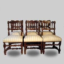 chaises louis xiii ensemble de six chaises en noyer de style louis xiii fin xixème