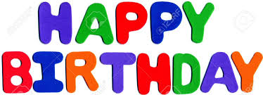 Foam Letters Displaying Happy Birthday Stock Picture And