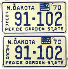 1973 North Dakota Truck License Plates | Brandywine General Store