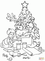 Large Size Of Christmas Tree Coloring Page Boy And Girl Decortable Pagesfree Pages Treefree