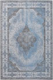 vintage teppich retro hellblau flachgewebt