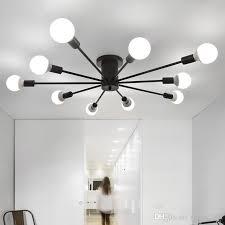 großhandel led deckenleuchten wohnzimmer schlafzimmer light restaurant len schlafzimmer moderne einfache eisen deckenbeleuchtung eisenhandwerk