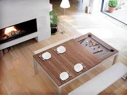custom brown dining room pool table under big dark industrial l