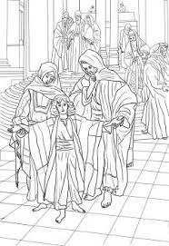 12 Year Old Jesus Found In The Temple By James Tissot Coloring Page