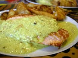 recette de pavé de saumon au curry et graines de coriandre la