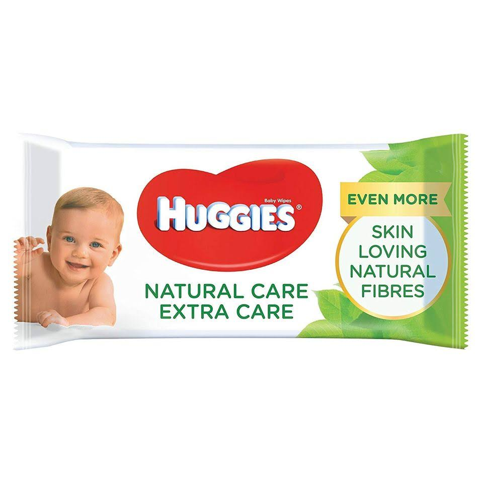 Huggies Natural Care Extra Care Baby Wipes - 56 Wipes