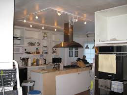 kitchen lighting track for square clear modern shell