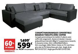 coffre canapé auchan ronq promotion canapé panoramique convertible magnus tissu