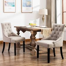 Amazon.com - Mecor Fabric Dining Chairs Set Of 2, Leisure Padded ... Ding Chair Black Leather Kitchen Chairs Buy Fabric White And Room Sets Amazoncom Set Of 2 Modern Upholstered Naples Grey Vintage Pack Two Modish Synnes Black Rouse Home Ashford X Canterbury Lvet Fabric Ding Room Chairs Scroll Top High Back Reed Farmhouse Bri Metal Frame With Arms Colt Low Back Armchair O G Studio 4 Matching Satina With Stud Detail 82 Off Macys Patterned