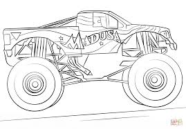 100 Monster Truck Coloring Book Madusa Super 4 Yr Birthday