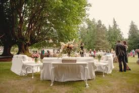 Backyard Rustic Wedding Reception Space