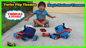 Thomas The Tank Engine Toddler Bed by Thomas And Friends Kid Playing With Train Toys Turbo Flip Thomas