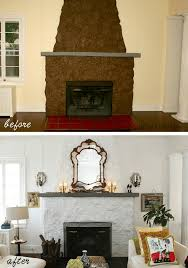 Painted Rock Fireplace Pics i need help for my ugly stone