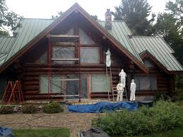 Log Home Restaining WI MN