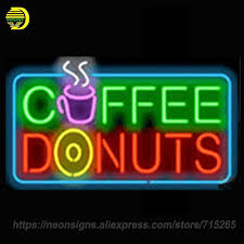 neon signs for coffee donuts personalized handcraft hotel decorate