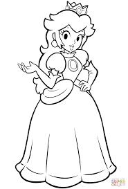 Download Coloring Pages Princess Peach Mario Bros Page Free Printable
