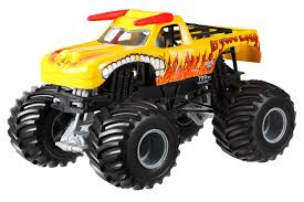 Amazon.com: Hot Wheels Monster Jam El Toro Loco Yellow Die-Cast ...