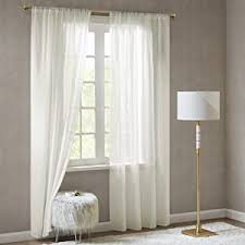 scm gardinen schals in leinen optik leinenstruktur vorhänge schlafzimmer transparent vorhang für große fenster doris white lang 2er set je