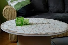 mosaic tile coffee table new diy cable spool table cool coffee