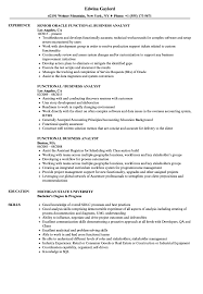 Functional Business Analyst Resume Samples