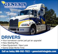 Drivers, Genesis Transportation Co., Inc, Scott City, MO Cdl Trucking 100k Year Flatbed Job 5 Day Work Week Red Viking Inexperienced Truck Driving Jobs Roehljobs Mesilla Valley School Southeast Panies Heartland Express Regional Greensboro Southeast Dicated Account Weekend Home Time Class A In Georgia Local Ga Drivers Southeast Milk History Of The Trucking Industry United States Wikipedia Governor Visits Gary To Tout 500 New Jobs Wkforce Johnston