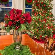 Festive Dining Room Table Floral Arrangement