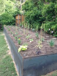 Steel Vegetable Garden Retaining Wall