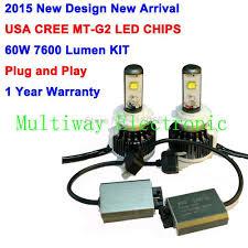 2015 newest play 60w 7600lm kit cree led headlight 30w