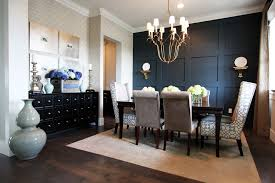 Unique For Walls Dining Room Contemporary With Metallic Frame Black Sideboard White Molding