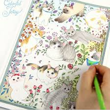 Newest 80Pages Korea Style 25cm Secret Garden Coloring Book Drawing Toys Mandala Educational Kids PS033 In From