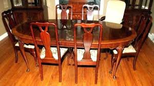 Queen Anne Dining Room Set Table And Chairs