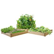 greenes fence two tiers dovetail raised garden bed rc4t4s24b the