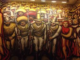 David Alfaro Siqueiros Murales by Museo Nacional De Historia Castillo De Chapultepec Mexico City
