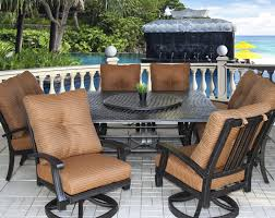 Darlee Patio Furniture Nassau by Barbados Cushion Outdoor Patio 9pc Dining Set With Series 5000 64
