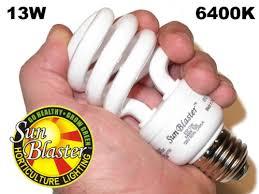 cfl grow light compact fluorescent light 13 watt 4 pack of 6400k