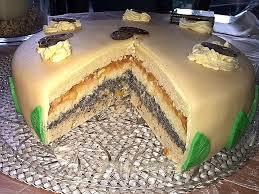 vegane mohn marzipan torte mit leckerer apfelfüllung