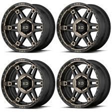 100 17 Truck Wheels Set 4 XD Series Spy 2 XD840 X9 5x5 12mm Black Dark Tint
