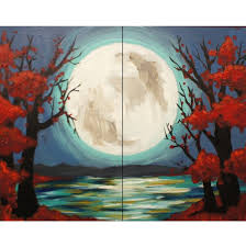Pumpkin Moon Oak Park Illinois by Paint And Sip In Logan Square Logan Square Pinot U0027s Palette